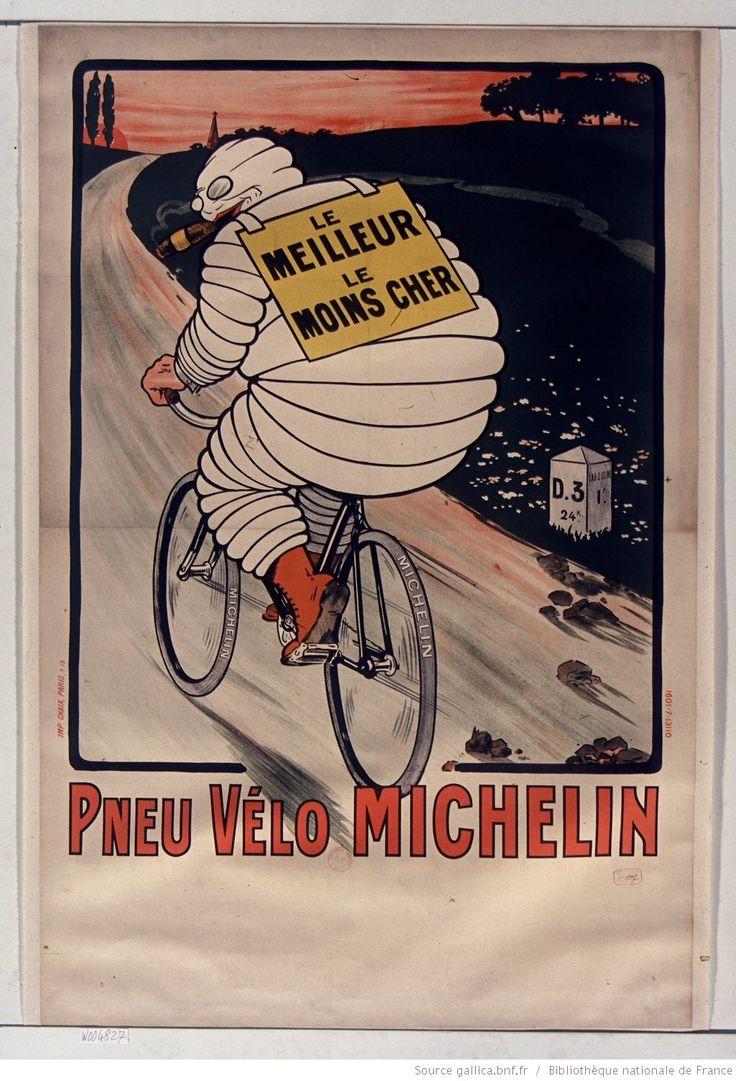 Le Meilleur, le moins cher pneu vélo Michelin : [affiche] / [non identifié], 1913