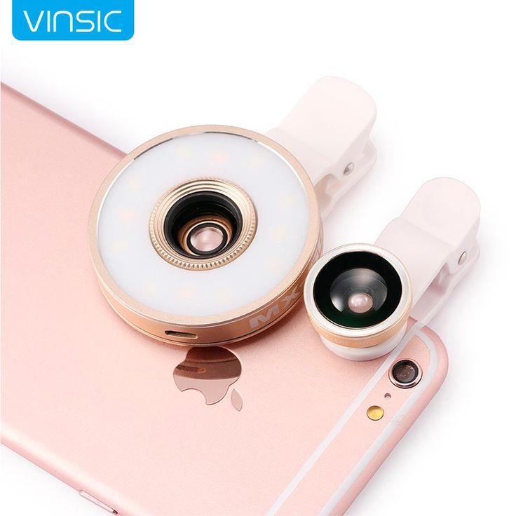 Aliexpress.com: Comprar Vinsic 6 en 1 LED Clip on Linterna 185 Fisheye 10x Lente Macro 0.65x lente gran angular para iphone 7 6 s 6 más 5 y samsung s7 S6 de lente adaptador de montaje canon fiable proveedores en VINSIC Brand FlagShip Store