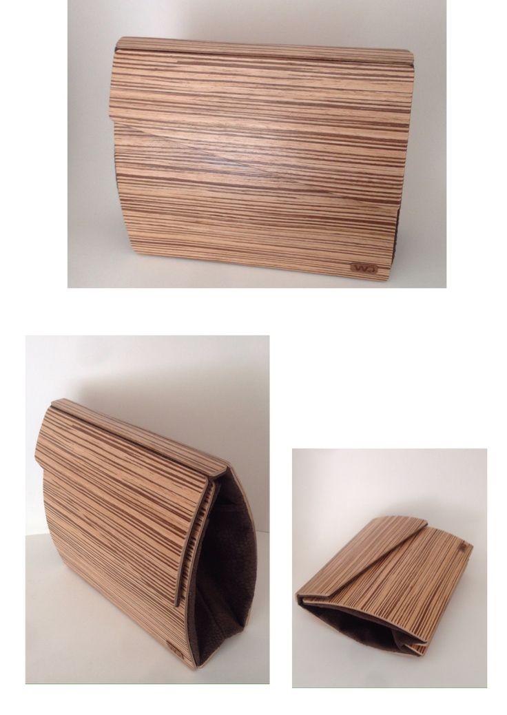 Zebrano wood clutch