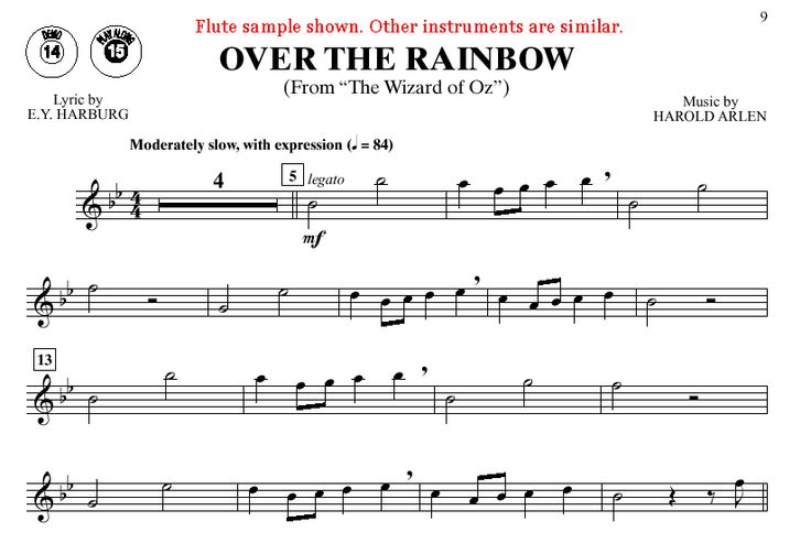 Alto Saxophone Music For somewhere over the rainbow