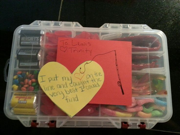 Candy tackle box With m&m, Mr. Goodbar, Hersheys, Swedish Fish, Sour Gummy Worms Twizzlers, and Regular Gummy Worms