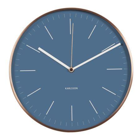 Wall clock Minimal - blå Karlsson vægur