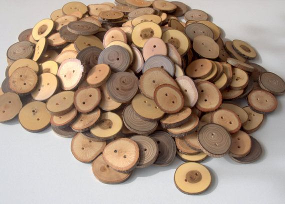 Wood Buttons  Branch Buttons  200 Buttons  Many Kind Tree