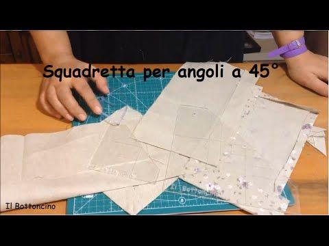 Realizzazione innovativa angoli a 45° - Il Bottoncino - Angolo a cappuccio - YouTube