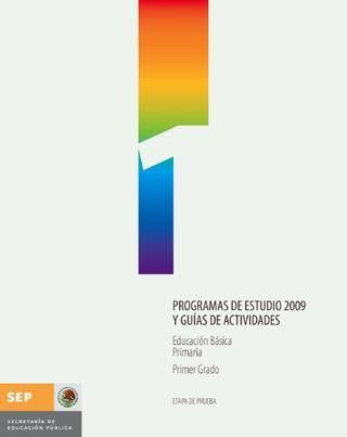 programa de primero  programa de primaria 1°