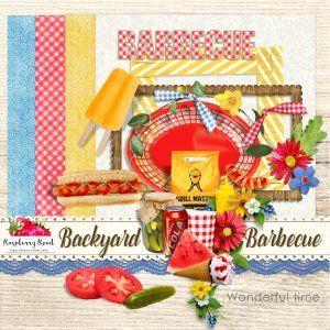 Monday's Guest Freebies ~ Raspberry Road * Follow the Free Digital Scrapbook board for daily freebies: https://www.pinterest.com/sherylcsjohnson/free-digital-scrapbook/ * Visit GrannyEnchanted.Com for thousands of digital scrapbook freebies. * Backyard Barbecue Freebie