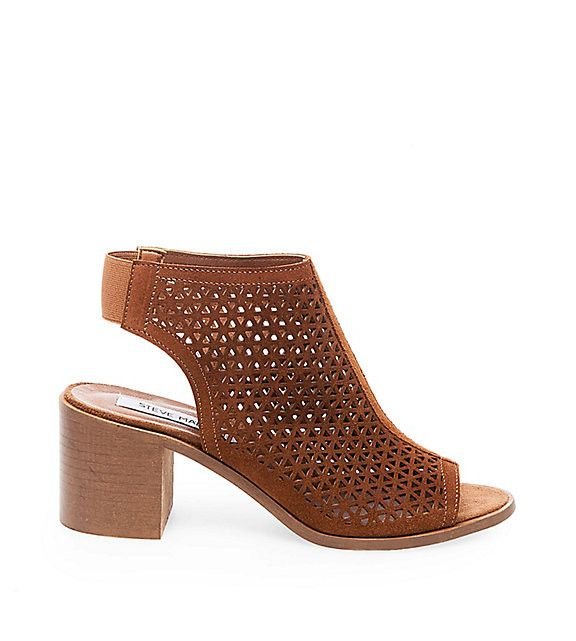 STEVE MADDEN- DEBORAH Allover cutouts give this hybrid heel a lace-like  texture and pattern, as well as an airy feel that's emphasized by the shoe's  open ...