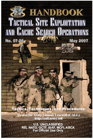 TACTICAL SITE EXPLOITATION AND CACHE SEARCH OPERATIONS HANDBOOK