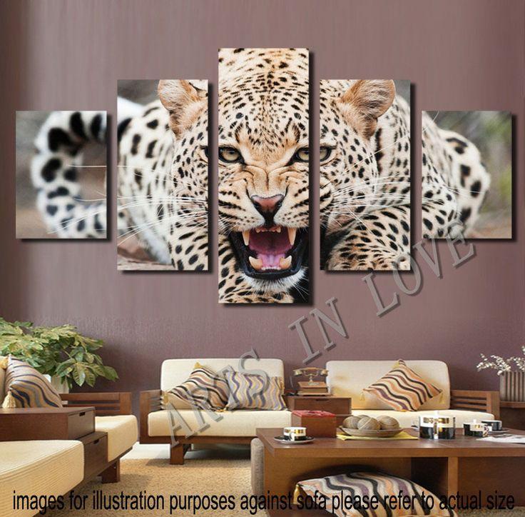 unframed canvas print home decor wall art animal leopard cheetah bedroom you have good floor plan your