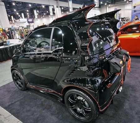 Dark Knight Smart Car - Wait... the Dark Knight drives a Smart Car?
