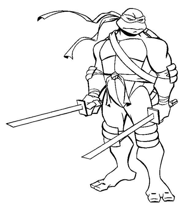 tmnt 2003 michelangelo coloring pages - photo#17