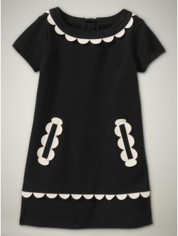 Gasp! Gap girls' scalloped dress! I want this in my size!