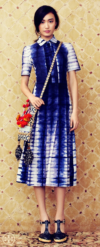 Fit To Be Tie-Dyed   Tory Burch Spring 2013