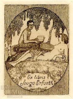 Bookplate by Heinrich Johann Vogeler for Hugo Erfurth, ??