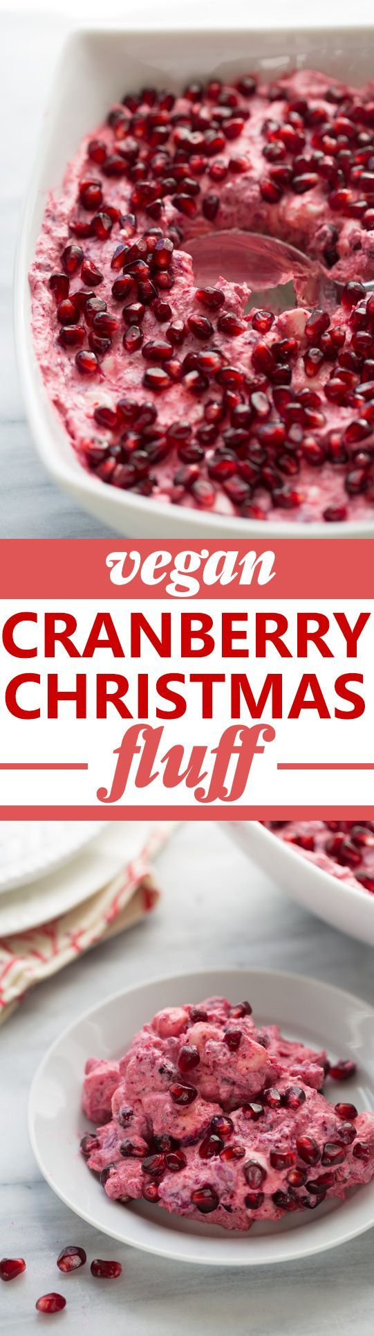 Vegan Christmas Cranberry Fluff! This gluten-free/dairy-free side will steal the show at any holiday gathering!