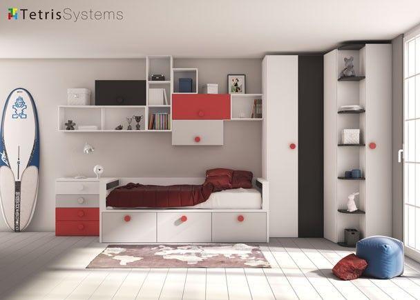 17 mejores ideas sobre dormitorios rojos en pinterest - Mobiliario juvenil moderno ...