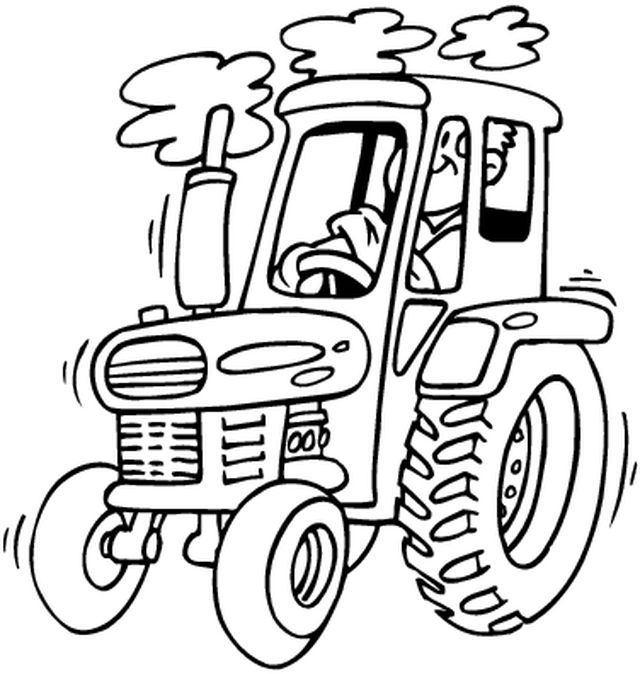 tractor coloring pages farmall b - photo#24