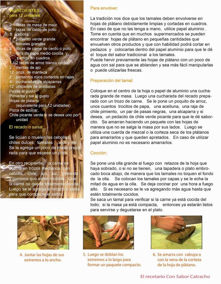 Con Sabor Catracho: NACATAMALES O TAMALES HONDUREÑOS, receta fácil