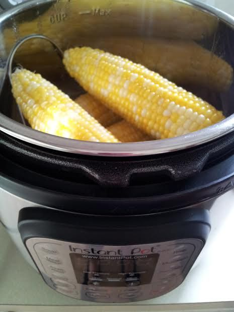 Corn On The Cob (Instant Pot)  Yields: 1-6 ears of corn  meat-free, dairy-free, egg-free oil-free, gluten-free, soy-free          Ingredie...