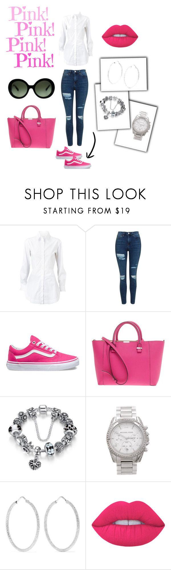 We love pink! by nicolemtnez on Polyvore featuring moda, Alaïa, Topshop, Vans, Victoria Beckham, Carolina Bucci, Michael Kors, Prada and Lime Crime