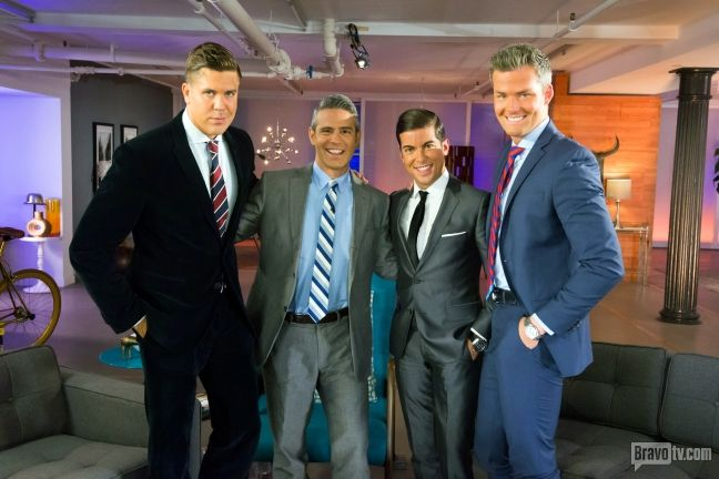 Andy Cohen looks right at home with our #MDLNY brokers Fredrik Eklund, Luis D. Ortiz, Ryan Serhant! Tune in tonight for the Reunion Part 2 to see if these sharks bite!