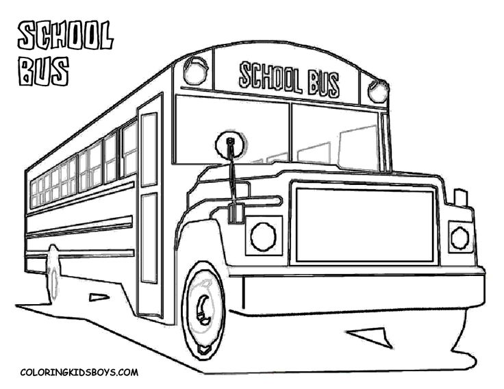 Coloring Page School Bus