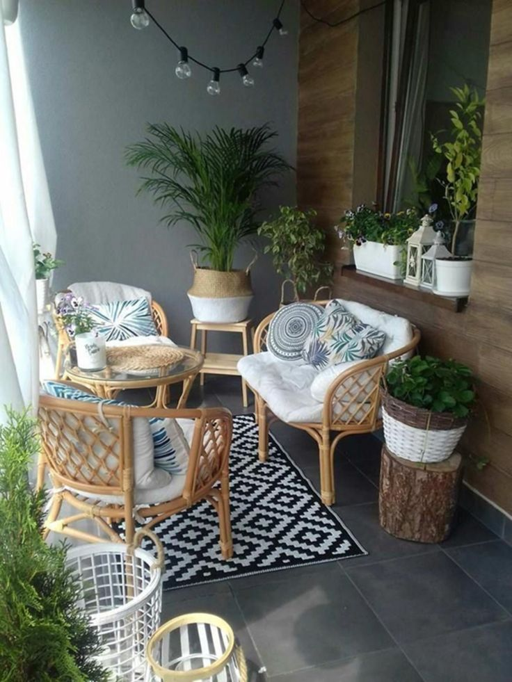 10 + Schöne Balkon Dekoration Ideen, um Ihren Komfort mit der Familie zu machen