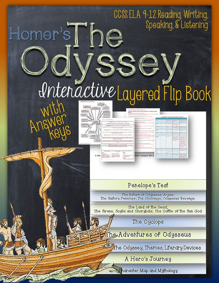 The Odyssey: Interactive Layered Flip Book ($)