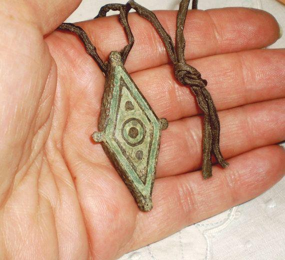 Roman Bronze Pendant Ancient Bronze Pendant by PreciousAntiquities