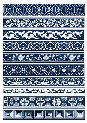 Old lace Chinese patterns