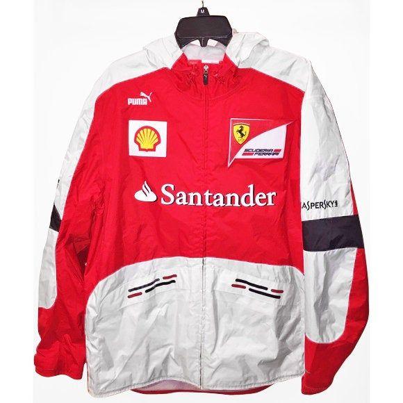 Ferrari Formula One Team Full Zip Jacket Hooded Coat Ladies Size XS-XL