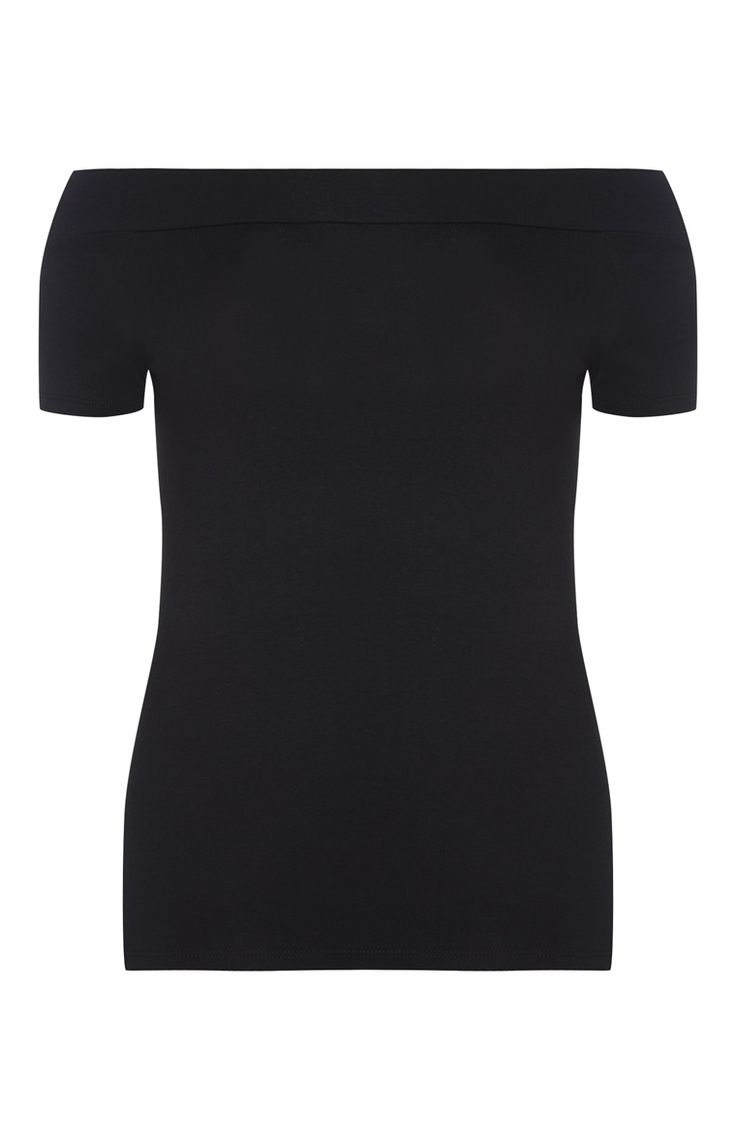 Primark - Zwarte top in Bardot-stijl
