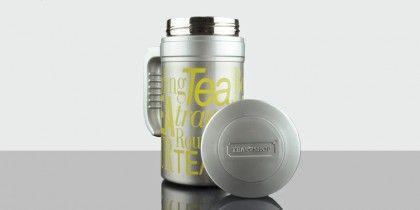 TravelTea Sport Yellow  Mug térmico de diseño exclusivo Tea Shop, para que puedas llevar tu té contigo a todas partes. Mantiene la temperatura más de 12 horas. La forma más práctica de disfrutar de tu té favorito.