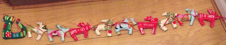 Festive bunting/garland with reindeer and sleigh Visit my page on facebook @[173120859526287:Eliza D Memory Maker]