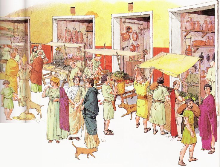 Roman market scene rome pinterest roman scene and rome for Ancient greek cuisine history