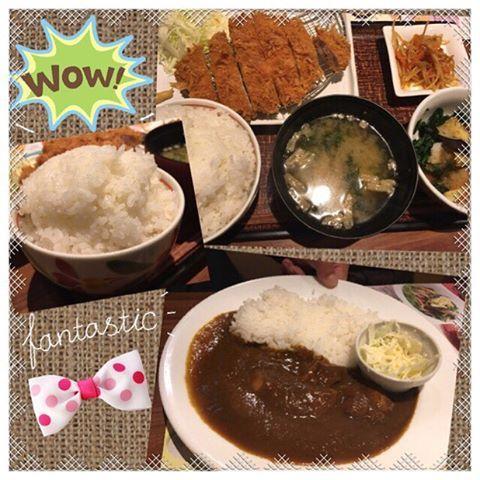 昨日は『もう食べ物注文してあるよ』って…そーいうサプライズって嬉しいし何がくるのかなー(*´罒`*)ワクワク💕 と思ったらトンカツ💖で…大爆笑😂😆 ご飯特盛り😂❣️ごはんの量なみに気持ちが嬉しい( ´͈ ᗨ `͈ )◞♡⃛ #トンカツ#肉#カレー#curry#お味噌汁#ごはん#特盛り#楽しい#嬉しい#大笑い#美味しい#夜ご飯#幸せ#大好き#happy#happyday#happytime#love#感謝#ありがとう #全部たべちゃった😚 #モヤモヤ病♥️ #早く何とかして😫💕 #どんどん(๑•🐽•๑)になる #幸せな時間