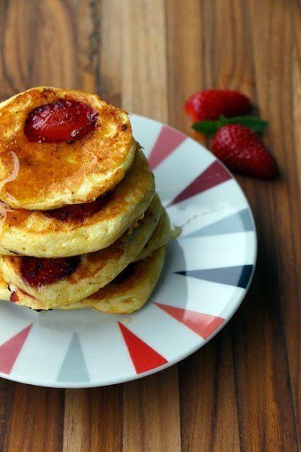 Erdbeer Pancakes