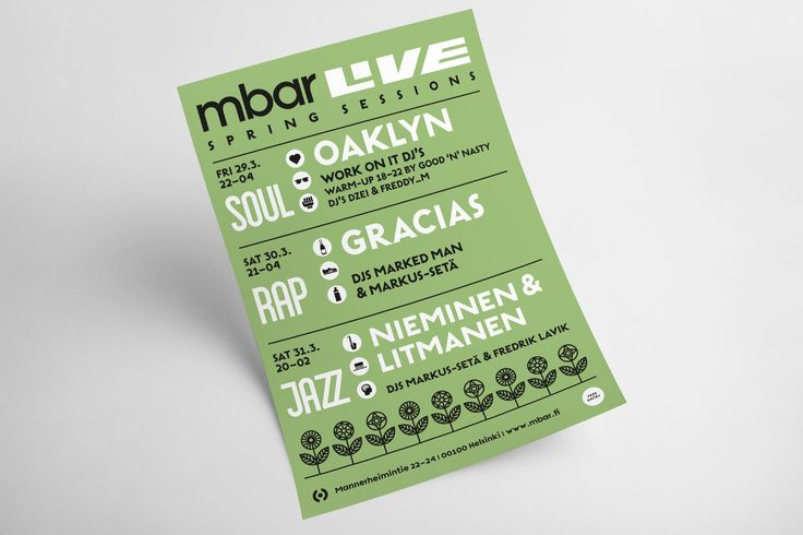 Poster for mbar club by Erik Bertell