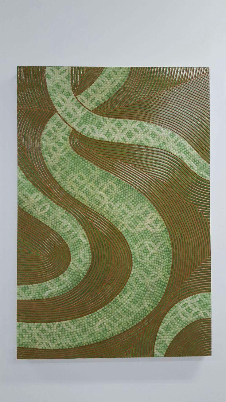 Lanumeamata (Green), 2015. Mixed Media. 120 x 79.5cm