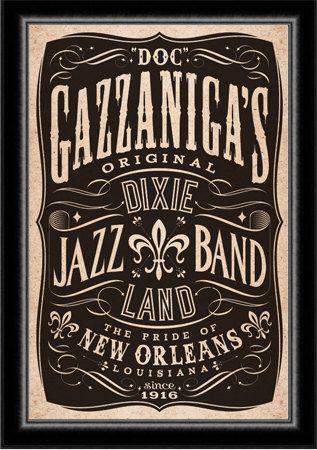 Dixieland Band Jazz New Orleans Poster. $75.00, via Etsy.