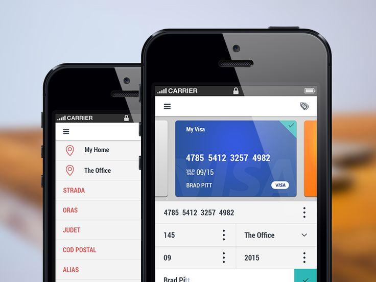 Mobile App Screens - WIP by Bari Ayhan