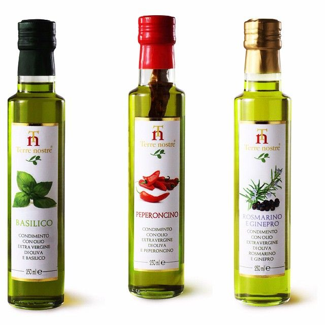 Infused Extra Virgin Olive Oils to flavor your dishes. Use them and reduce the use of salt!! #montalbano #tuscany #olive #oil #infused #chilli #basil #rosemary #juniper #dressing #healthy #natural #aroma #italian #cooking #diterra #diterraexclusivefood