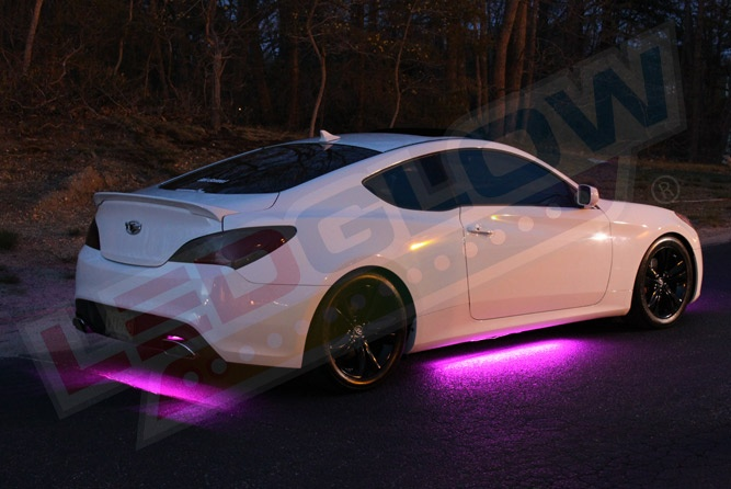 Pink wireless smd led underbody lighting kit clothes - Illegal to have interior car lights on ...