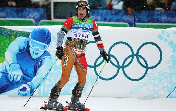 Roupa Hubertus von Hohenlohe, esqui 2010 (Foto: Getty Images)