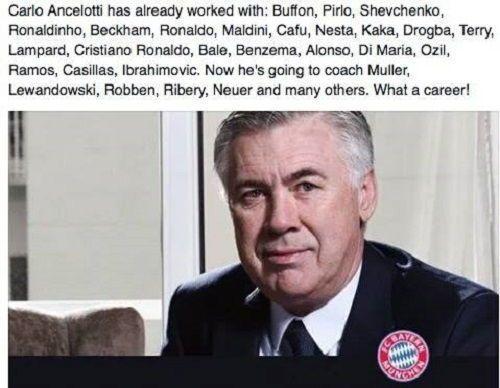 Beckham, Ronaldo, Ronaldinho, Nesta, Kaka, Pirlo, Buffon • Carlo Ancelotti pracował z tymi wszystkimi świetnymi piłkarzami • Zobacz >> #ancelotti #bayern #bayernmunich #football #soccer #sports #pilkanozna