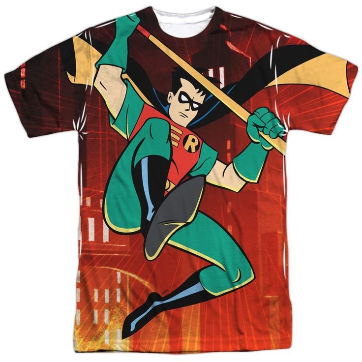Batman The Animated Series/Robins Night Out Short Sleeve Adult 100% Poly Crew in