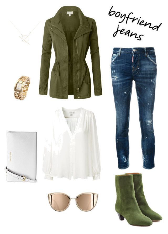 """""""Boyfriend jeans"""" by esteadman-1 on Polyvore featuring Dsquared2, Erin Fetherston, LE3NO, Étoile Isabel Marant, A Weathered Penny and Michael Kors"""