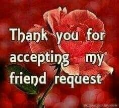 16 best thanks for accepting my request images on Pinterest Quote