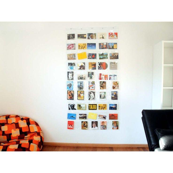 Hab und Gut Transparenter Vorhang mit Taschen 90 x 180 cm