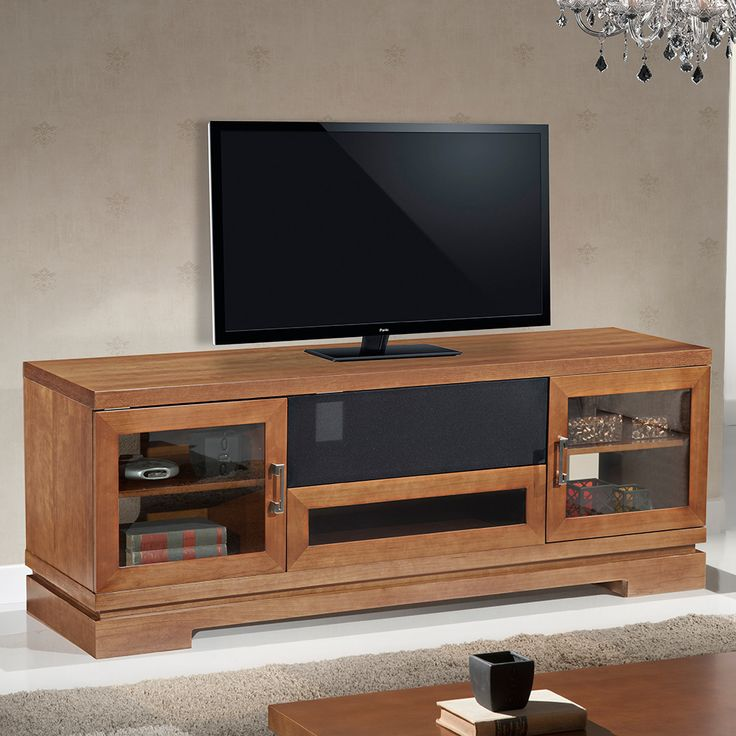 Furnitech 70 tv stand contemporary media cabinet w for Tv media storage cabinet